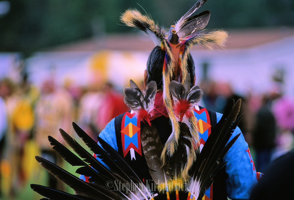 Choctaw Indian at Veterans Day Pow Wow - Choctaw, Mississippi