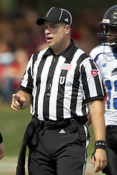 15 September 2012:  Umpire Brad Hudak during an NCAA football game between the Eastern Illinois Panthers and the Illinois State Redbirds at Hancock Stadium in Normal IL