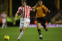 Photo: Rich Eaton.<br /> <br /> Wolverhampton Wanderers v Sunderland. Coca Cola Championship. 24/11/2006. Stanislav Varga of Sunderland and Jay Bothroyd battle for the ball