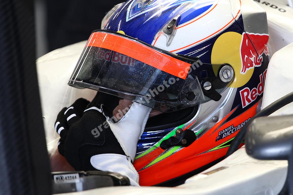 Daniel Ricciardo (Hispania-Cosworth) during practice for the 2011 British Grand Prix in Silverstone. Photo: Grand Prix Photo