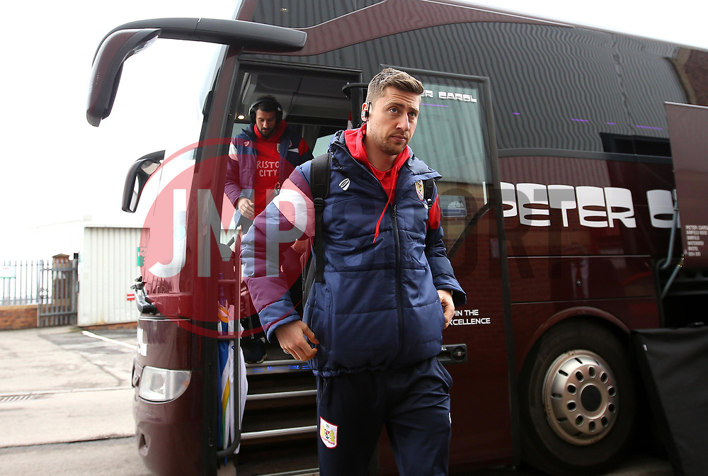 Jens Hegeler of Bristol City arrives at Barnsley - Mandatory by-line: Robbie Stephenson/JMP - 30/03/2018 - FOOTBALL - Oakwell Stadium - Barnsley, England - Barnsley v Bristol City - Sky Bet Championship