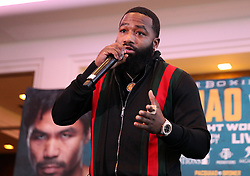 November 20, 2018 - Beverly Hills, California, U.S - November 20, 2018, Beverly Hills,Ca. ---  Manny ''Pacman'' Pacquiao and Adrien ''The Problem'' Broner (pictured) attend a press conference Tuesday in Beverly Hills,California for their upcoming WBA Welterweight title fight Saturday, January 19 from MGM Grand Garden Arena in Las Vegas..Boxing's only eight-division world champion, Pacquiao will end his two-year hiatus from a U.S. boxing ring when he returns to Las Vegas to defend title against former four-division world champion Broner. (Credit Image: © Chris Farina/ZUMA Wire)