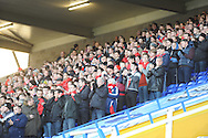 The supporters give 1 minute applause in remembrance of Nelson Mandela during the Skybet football league championship match, Birmingham city v Middlesbrough at St.Andrew's in Birmingham, England on Sat 7th Dec 2013. pic by Jeff Thomas/Andrew Orchard sports photography.