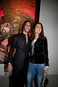 VLADIMIR RESTOIN ROITFELD; ROBERTA ARMANI, Richard Hambleton private view.- New York- Godfather of Street art presented by Vladimir Restoin Roitfeld and Andy Valmorbida in collaboration with Giorgio armani. The Old Dairy. London. 18 November 2010. -DO NOT ARCHIVE-© Copyright Photograph by Dafydd Jones. 248 Clapham Rd. London SW9 0PZ. Tel 0207 820 0771. www.dafjones.com.