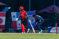 September 22, 2018 - Morrisville, North Carolina, US - Sept. 22, 2018 - Morrisville N.C., USA - Team USA MUHAMMAD ALI KHAN (47) delivers during the ICC World T20 America's ''A'' Qualifier cricket match between USA and Canada. Both teams played to a 140/8 tie with Canada winning the Super Over for the overall win. In addition to USA and Canada, the ICC World T20 America's ''A'' Qualifier also features Belize and Panama in the six-day tournament that ends Sept. 26. (Credit Image: © Timothy L. Hale/ZUMA Wire)