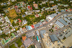 April 17, 2020: Aerial view above of Simon's Town, South Africa. (Credit Image: © Amazing Aerial via ZUMA Wire)