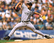 CHICAGO - JUNE 25:  Andy Pettitte of the New York Yankees pitches during an MLB game versus the Chicago White Sox on June 25, 2000 at Comiskey Park in Chicago, Illinois. (Photo by Ron Vesely) Subject:   Andy Pettitte