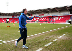 Joe Partington of Bristol Rovers arrives at The Keepmoat Stadium for his side's fixture against Doncaster Rovers - Mandatory by-line: Robbie Stephenson/JMP - 27/01/2018 - FOOTBALL - The Keepmoat Stadium - Doncaster, England - Doncaster Rovers v Bristol Rovers - Sky Bet League One