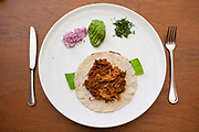 Dishes in Los Danzantes restauarant. Oaxaca is known throughout Mexico and internationally for it's great food. Seen as a centre for Mexican cuisine, among other regional specialities the dish the area is best known for is called Mole.