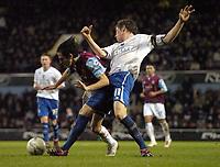 Photo: Olly Greenwood.<br />West Ham United v Brighton & Hove Albion. The FA Cup. 06/01/2007. West Ham's Yossi Benayoun and Brighton's Dean Hammond