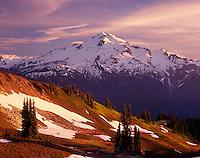 Glacier Peak in evening light from Miners Ridge, Glacier Peak Wilderness Washington USA