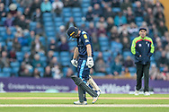 Adam Lyth (Yorkshire Vikings) is caught by the wicket keeper. 30 scored, bowled by McClaren and caught by Davies during the Royal London 1 Day Cup match between Yorkshire County Cricket Club and Lancashire County Cricket Club at Headingley Stadium, Headingley, United Kingdom on 1 May 2017. Photo by Mark P Doherty.