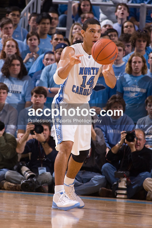 19 January 2008: North Carolina Tar Heels forward Danny Green (14) during a 93-84 loss to the Maryland Terrapins at the Dean Smith Center in Chapel Hill, NC.