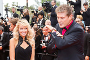David Hasselhoff and his wife attends the Premiere of 'Jeune & Jolie' (Young & Beautiful) at The 66th Annual Cannes Film Festival at Palais des Festivals on May 16, 2013 in Cannes, France