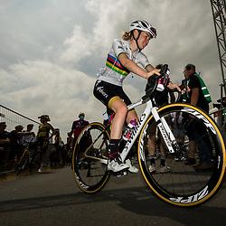 WIJSTER (NED) June 19: <br /> CYCLING <br /> Dutch Nationals Road WOMEN up and around the Col du VAM<br /> Anna van der Bruggen after the race