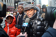 20 February 2009 NY, NY - l to r: Rev. Al Sharpton and Spike Lee at Day 2 of New York Post Protest by Rev. Al Sharpton and The National Network against offensive cartoon depicting dead Chimpanzee as President Obama.