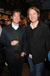 Left to right, JAMES EVANS and JACK O'SHEA at a party to celebrate the publication of The New English Table by Rose Prince held at The Daunt Bookshop, Marylebone High Street, London on 9th April 2007.<br /><br />NON EXCLUSIVE - WORLD RIGHTS