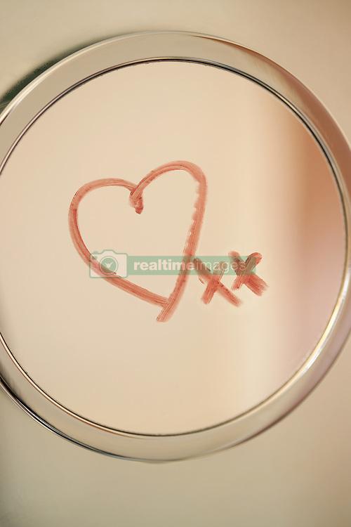 Dec. 13, 2012 - A heart and a kisses on a mirror (Credit Image: © Image Source/ZUMAPRESS.com)