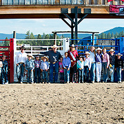 The whole crew at the Darby MT Kiddie Rodeo July 7th 2017.  Photo by Josh Homer/Burning Ember Photography.  Photo credit must be given on all uses.