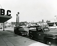 1954 Looking north on Vine St. from Hollywood Blvd.