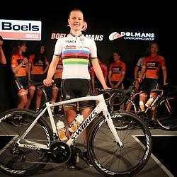 19-01-2017: Wielrennen: Persmoment Boels Dolmans: Valkenburg   <br />VALKENBURG (NED) wielrennen<br />In Chateau Sint Gerlach waar de groten der aarde overnachten presenteerde het Boels-Dolmans Womens Cyclingteam zich aan pers en genodigden. Worldchampion Amelie Diederiksen