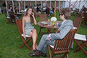JOANNA GREEN; PATRICK KEOGH, Cartier International Polo. Smiths Lawn. Windsor. 24 July 2011. <br /> <br />  , -DO NOT ARCHIVE-© Copyright Photograph by Dafydd Jones. 248 Clapham Rd. London SW9 0PZ. Tel 0207 820 0771. www.dafjones.com.