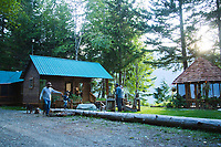 Kimsquit Bay Lodge, British Columbia, Canada. Kimsquit Lodge is a fly  or boat in steelhead lodge near the Dean River owned by Jeff and Katherine Hickman.