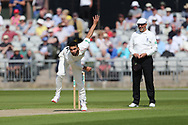 Lancashires Saqib Mahmood  during the Specsavers County Champ Div 2 match between Lancashire County Cricket Club and Northamptonshire County Cricket Club at the Emirates, Old Trafford, Manchester, United Kingdom on 14 May 2019.