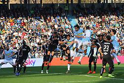 """March 3, 2019 - Ferrara, Ferrara, Italia - Foto LaPresse/Filippo Rubin.03/03/2019 Ferrara (Italia).Sport Calcio.Spal - Sampdoria - Campionato di calcio Serie A 2018/2019 - Stadio """"Paolo Mazza"""".Nella foto: GOAL SERGIO FLOCCARI (SPAL) POI ANNULLATO DAL VAR..Photo LaPresse/Filippo Rubin.March 03, 2019 Ferrara (Italy).Sport Soccer.Spal vs Sampdoria - Italian Football Championship League A 2018/2019 - """"Paolo Mazza"""" Stadium .In the pic: GOAL SPAL SERGIO FLOCCARI (SPAL) DELETED BY VAR (Credit Image: © Filippo Rubin/Lapresse via ZUMA Press)"""