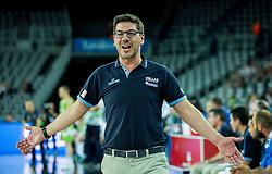 Fotis Katsikaris, head coach of Greece during basketball match between Slovenia vs Greece at Day 5 in Group C of FIBA Europe Eurobasket 2015, on September 9, 2015, in Arena Zagreb, Croatia. Photo by Vid Ponikvar / Sportida