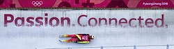February 8, 2018 - Pyeongchang, South Korea - Germany's Andi Langenhan during the Luge Men's singles training runs the evening before the opening ceremonies of the 2018 Pyeongchang Winter Olympics. (Credit Image: © Daniel A. Anderson via ZUMA Wire)
