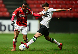 Bristol City's Opi Edwards Battles for the ball with Liverpool's Adam Lewis - Mandatory by-line: Alex James/JMP - 13/02/2018 - FOOTBALL - Ashton Gate Stadium - Bristol, England - Bristol City U23 v Liverpool U23 - Premier League Cup