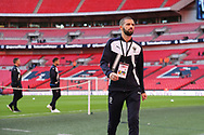 AFC Wimbledon defender George Francomb (7) walking off the pitch during the The FA Cup 3rd round match between Tottenham Hotspur and AFC Wimbledon at Wembley Stadium, London, England on 7 January 2018. Photo by Matthew Redman.