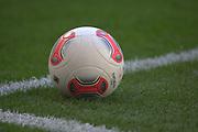 Fussball: International Friendly, 125 years, Hamburger SV - FC Barcelona 1:2, Hamburg, 24.07.2012<br /> Adidas-Ball Torfabrik<br /> © Torsten Helmke