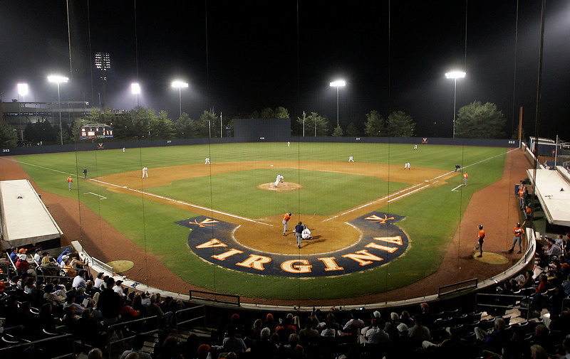 Virginia Cavalier baseball at the University of Virginia in Charlottesville, VA. Photo/Andrew Shurtleff.