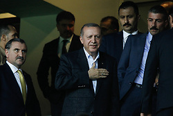 August 3, 2017 - °Stanbul, Türkiye - Turkish President Recep Tayyip Erdogan watches the UEFA Europa League third qualifying round second match between Fenerbahce and Sturm Graz at Fenerbahce's Ulker Stadium in Istanbul on August 3, 2017. (Credit Image: © Depo Photos via ZUMA Wire)