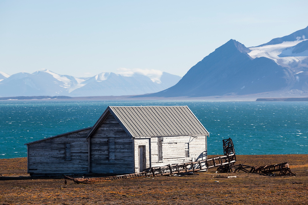 The telegraph building (which never became operational), part of the coal mining operation erected by the British Northern Exploration Company in Calypsobyen, Svalbard in the early 1900s.