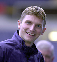 Tore Andre Flo signs for Rangers and traisn with squad for first time.<br />Pic Ian Stewart, November 23rd. 2000.<br />Torre Andre Flo at Ibrox park this afternoon after signing for Rangers. (Photo:Ian Stewart , Digitalsport