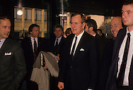 Bush 41 arrives at NATO meeting in December 1989..Photograph by Dennis Brack, BB 29