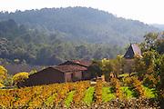 Domaine Borie la Vitarèle Causses et Veyran St Chinian. Languedoc. The winery building. France. Europe. Vineyards.