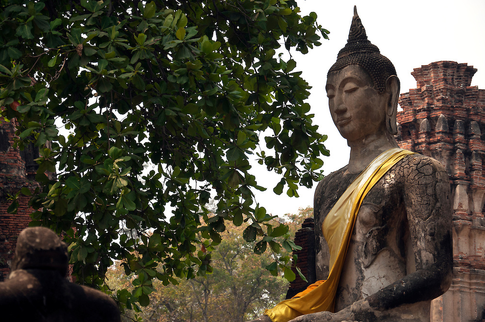 Buddha statue at Ayutthaya City.