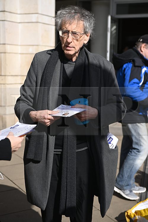 © Licensed to London News Pictures. 13/03/2021. London, UK. PIERS CORBYN attends an anti-vaccination and anti-lockdown demonstration organised by Jam For Freedom in Richmond.The group is using music to create positive effects and health against the current tier regulations and anti-vaccination for the Covid-19 disease. Photo credit: Ray Tang/LNP