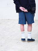 Tourist in Saint-Martin-de-Ré, Ile de Ré, France