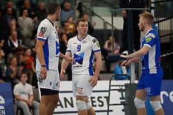 20181103 NED: Eredivisie, Sliedrecht Sport - Abiant Lycurgus: Sliedrecht<br />Erik van der Schaaf (9) of Abiant Lycurgus, Steven Ottevanger (10) of Abiant Lycurgus<br />©2018-FotoHoogendoorn.nl / Pim Waslander