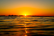 Sunset Setting Over the Ocean in California