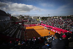 May 3, 2018 - Estoril, Portugal - General view of the pitch during the Kevin Anderson from South Africa  vs Stefanos Tsitsipas from Greece during the Millennium Estoril Open tennis tournament in Estoril, outskirts of Lisbon, Portugal on May 1, 2018  (Credit Image: © Carlos Costa/NurPhoto via ZUMA Press)