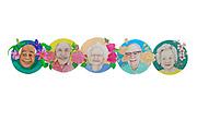 Ethnically Diverse Senior Faces