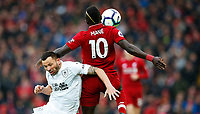 Football - 2018 / 2019 Premier League - Liverpool vs. Burnley<br /> <br /> Sadio Mane of Liverpool and Phillip Bardsley of Burnley at Anfield.<br /> <br /> COLORSPORT/LYNNE CAMERON