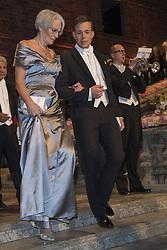 Bente Erichsen, Johannes Bah Kuhnke <br /> <br />  <br /> <br />  beim Nobelbankett 2016 im Rathaus in Stockholm / 101216 <br /> <br /> <br /> <br /> ***The Nobel banquet, Stockholm City Hall, December 10th, 2016***