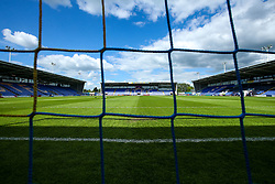 A general view of The Montgomery Waters Meadow, home to Shrewsbury Town - Mandatory by-line: Robbie Stephenson/JMP - 13/05/2018 - FOOTBALL - Montgomery Waters Meadow - Shrewsbury, England - Shrewsbury Town v Charlton Athletic - Sky Bet League One Play-Off Semi Final